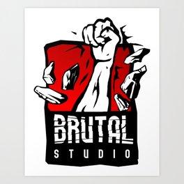 Brutal Studio Logo Art Print