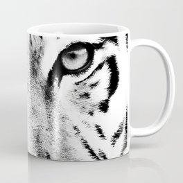 White Tiger Print Coffee Mug
