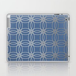 Simply Vintage Link in White Gold Sands and Aegean Blue Laptop & iPad Skin