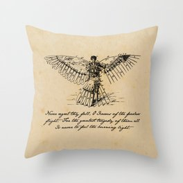 Oscar Wilde - Icarus Throw Pillow