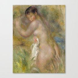 """Auguste Renoir """"La baigneuse"""" Canvas Print"""