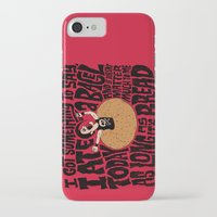misfits iPhone & iPod Cases featuring Last Bagel Caress by Chris Piascik