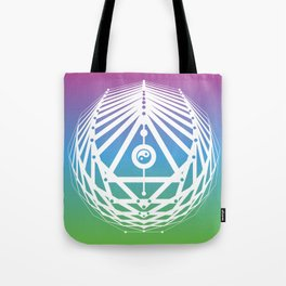 Radiant Abundance (cool gradient-white) Tote Bag