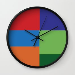 Multi Color squares Wall Clock