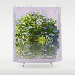 Hydrangea on Lavender Shower Curtain