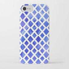 Watercolor Diamonds in Cobalt Blue Slim Case iPhone 7