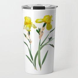 Yellow Iris and Cricket Travel Mug
