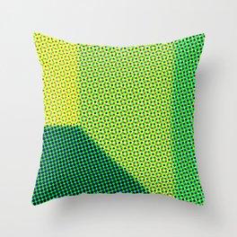 Green abstract dots Throw Pillow
