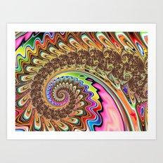 BBQSHOES: Fractal Spirit Spiral Art Print
