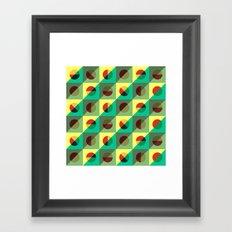 Mint circles & squares Framed Art Print