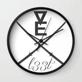 Vexl33t logo Wall Clock