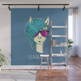 LLAMAZING llama Wall Mural