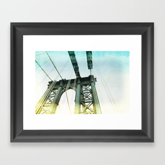 manhattan bridge in the light Framed Art Print