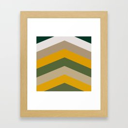 Moraccon chevron Framed Art Print