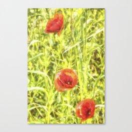 Poppy Watercolour Art Canvas Print