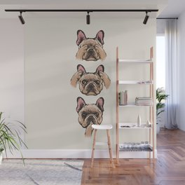No Evil  Frenchie Wall Mural