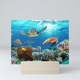 the reef Mini Art Print