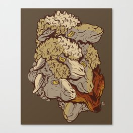 A Wolf Among Them Canvas Print