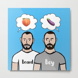Beard Boy: Naughty Boys Metal Print