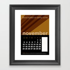 2013 Pigment to Pantone Calendar – NOVEMBER Framed Art Print