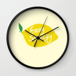 Easy Squeezy Lemon Wall Clock
