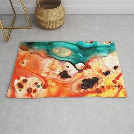 Abstract Art - Just Say When - Sharon Cummings Rug