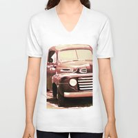 truck V-neck T-shirts featuring Old Truck by Regan's World