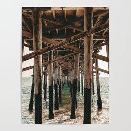 Balboa Pier Print {1 of 3} | Newport Beach Ocean Photography Teal Summer Sun Wave Art Poster