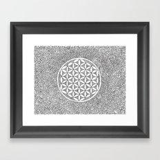 Flower of Life Drawing Meditation Framed Art Print