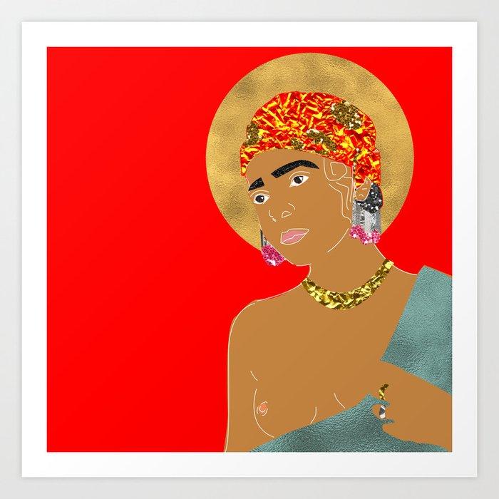 Mary in Red Kunstdrucke