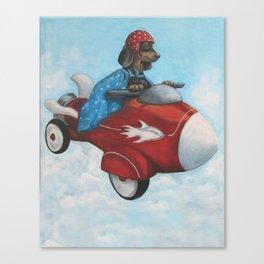 Elvis Flies for K9 Air Canvas Print
