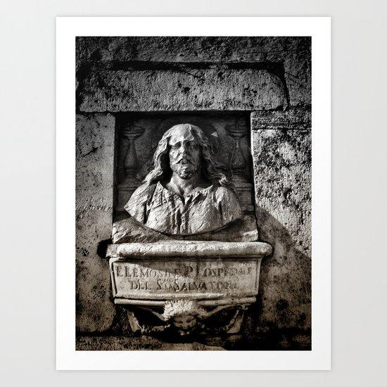 Roman Bust Art Print
