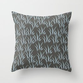 Blue Stalk II Throw Pillow