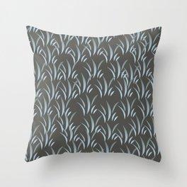 Blue Stalk II Throw Pillow