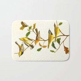 Birds & Plants Bath Mat