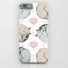 Sleepy Kitty Pattern iPhone 6s Slim Case