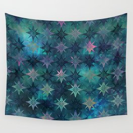 Bohemian Night Skye - Green Wall Tapestry