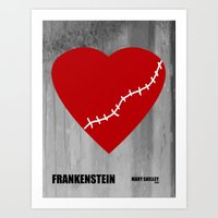 frankenstein Art Prints featuring Frankenstein by PA Melvin