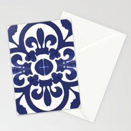Talavera Classic Blue and White Flower Bud Stationery Cards