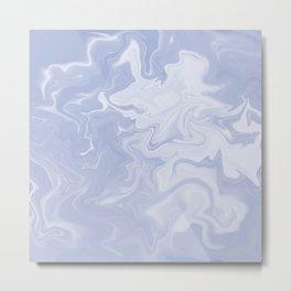 Lilac, Grey, Marble. Metal Print
