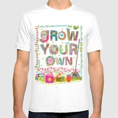 Grow Your Own MEDIUM Mens Fitted Tee White