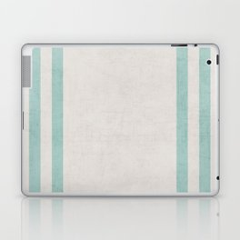 french linen - robins egg blue Laptop & iPad Skin
