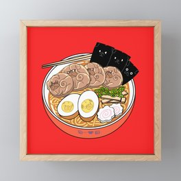 Ramen Pugs Framed Mini Art Print
