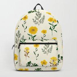 Yellow daisy pattern  Backpack