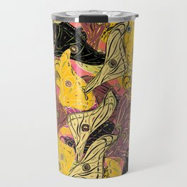 Butterfly Wings in Bold Yellow Travel Mug