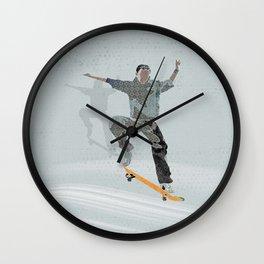 Skateboard 2 Wall Clock