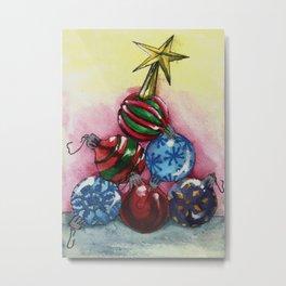 Tree of Ornaments Metal Print