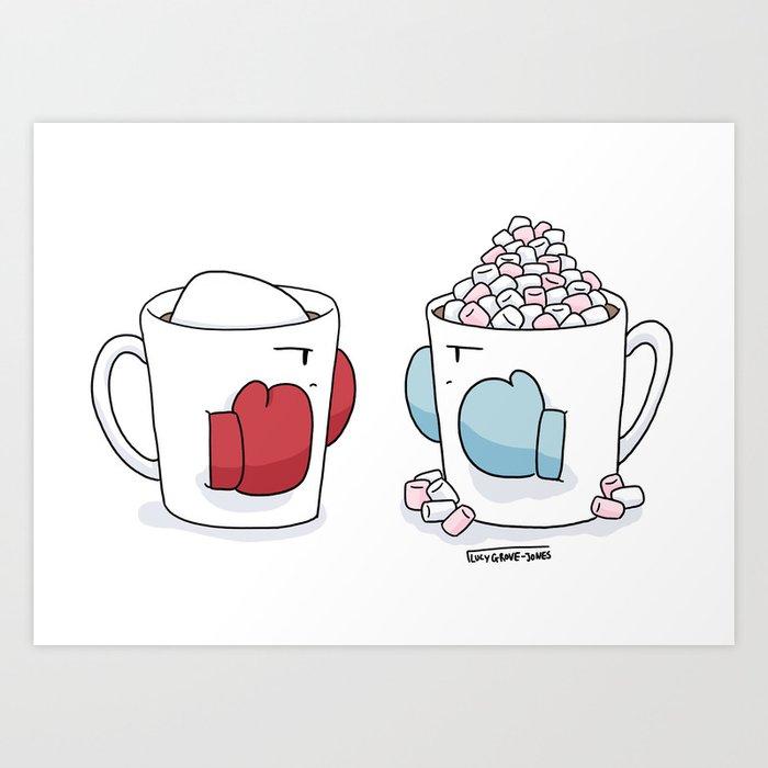 Fighting Mugs Art Print
