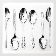 Vintage Spoons Art Print