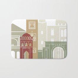 Marrakesh skyline poster Bath Mat